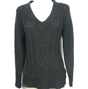 🍁Columbia Thick Knit V-neck Sweater